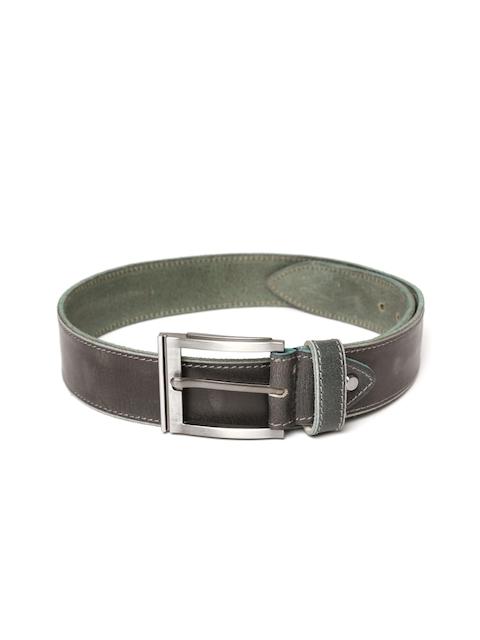 Roadster Men Charcoal Grey Full Grain Leather Belt