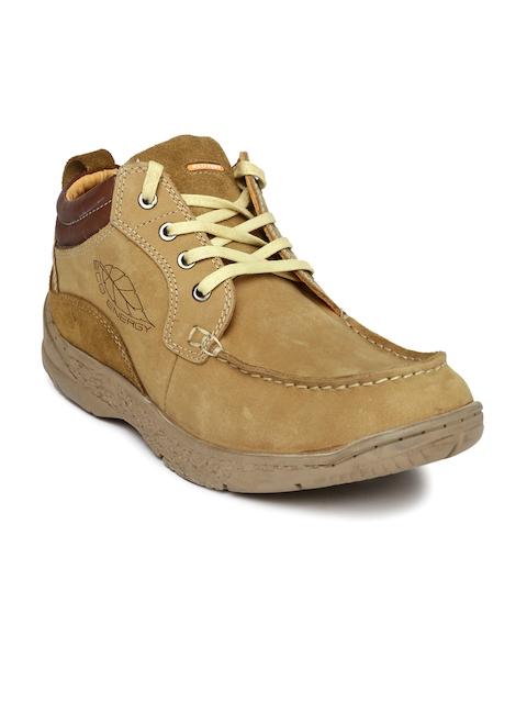 Red Chief Men Brown Solid Regular Sneakers