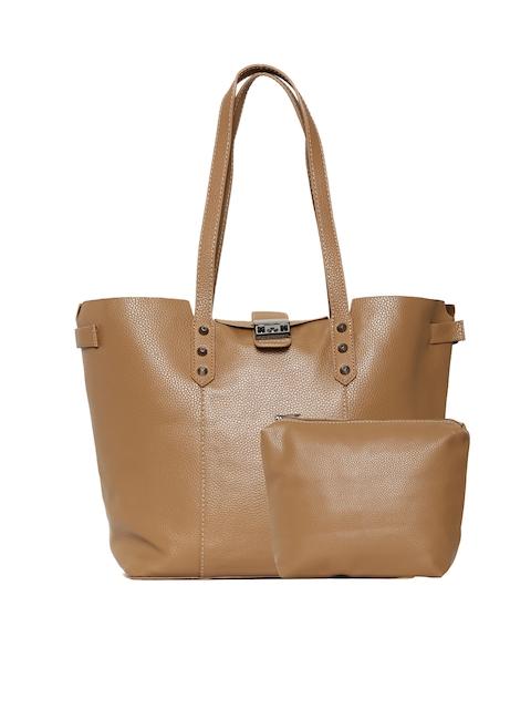 Roadster Brown Textured Shoulder Bag