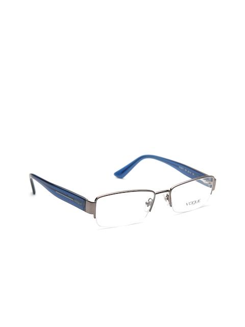 vogue Unisex Gunmetal-Toned Half-Rim Rectangular Frames 0VO3874I54853-548