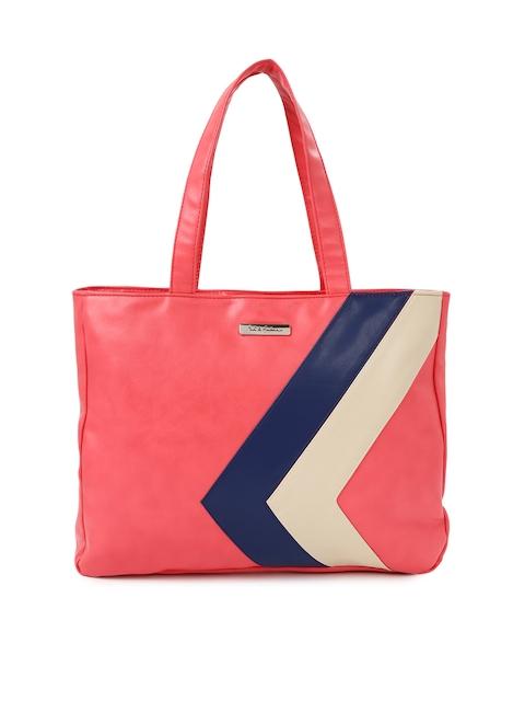 Mast & Harbour Women Coral Pink Laptop Bag
