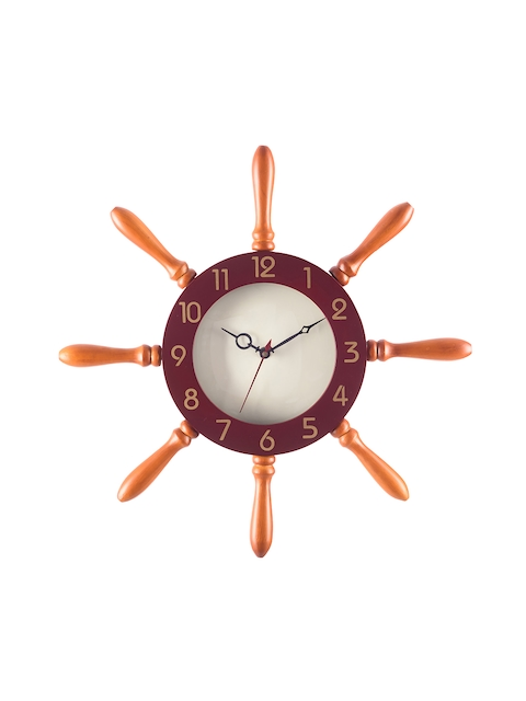 eCraftIndia White 31.7 cm x 31.7 cm Analogue Wall Clock