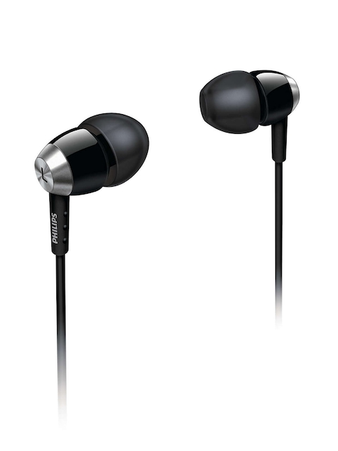 Philips Black & Silver-Toned In-Ear Earphones SHE7000