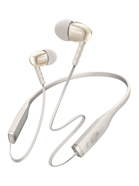 Philips White & Rose Gold-Toned In-Ear Bluetooth Earphones with Mic SHB5950WT