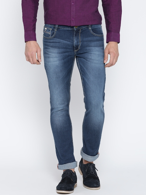 John Players Men Blue Slim Fit Low-Rise Jeans
