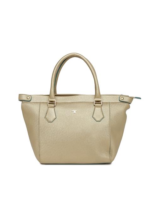 Baggit Gold-Toned Textured Shoulder Bag