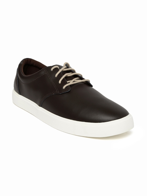 Crocs Men Brown CitiLane Leather Sneakers