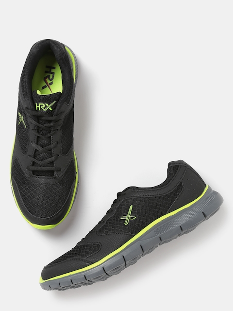 HRX by Hrithik Roshan Men Black Walking Shoes