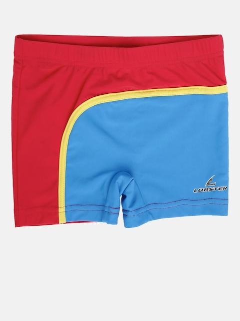 LOBSTER Boys Red & Blue Colourblocked Swim Shorts 4058333102270