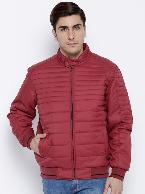 Monte Carlo Red Puffer Bomber Jacket