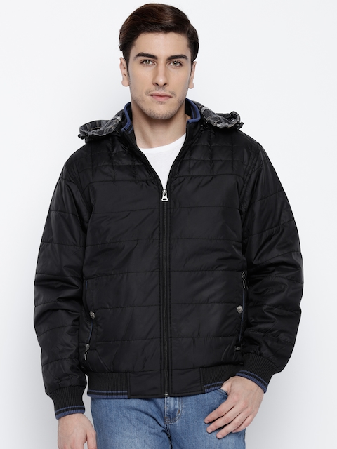 Monte Carlo Black Bomber Jacket with Detachable Hood