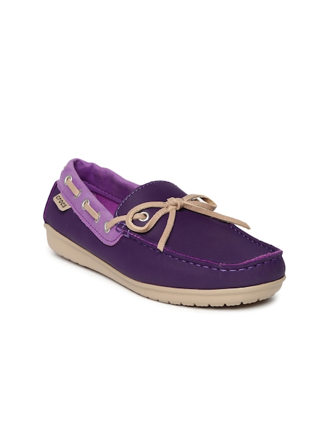 Crocs Women Purple Solid ColorLite Boat Shoes