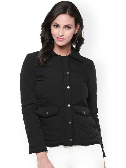 The Vanca Black Quilted Jacket