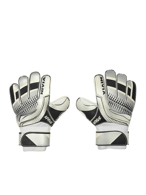 NIVIA Unisex Grey Printed Armour Goal Keeper Football Gloves