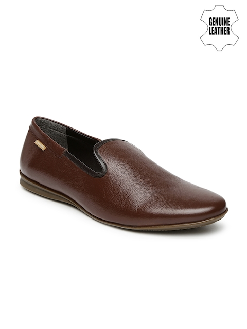 U.S. Polo Assn. Men Brown Genuine Leather Hector Slip-Ons