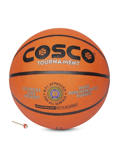 COSCO Unisex Orange & Black Tournament Printed Basketball