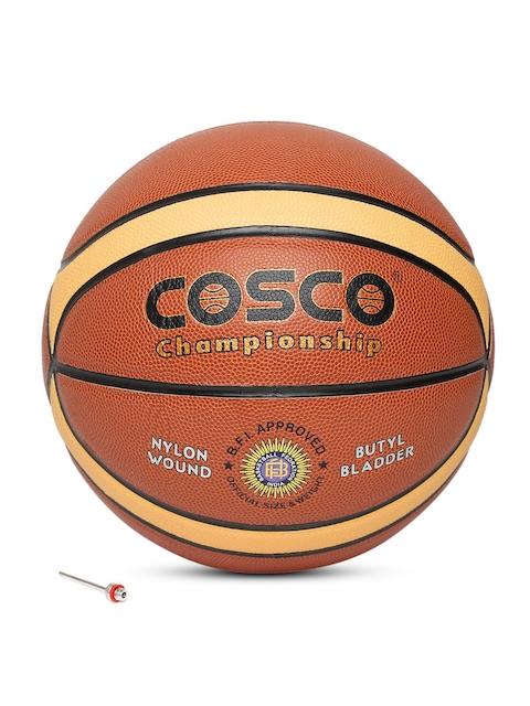 COSCO Unisex Rust Orange Championship Composite Leather Basketball