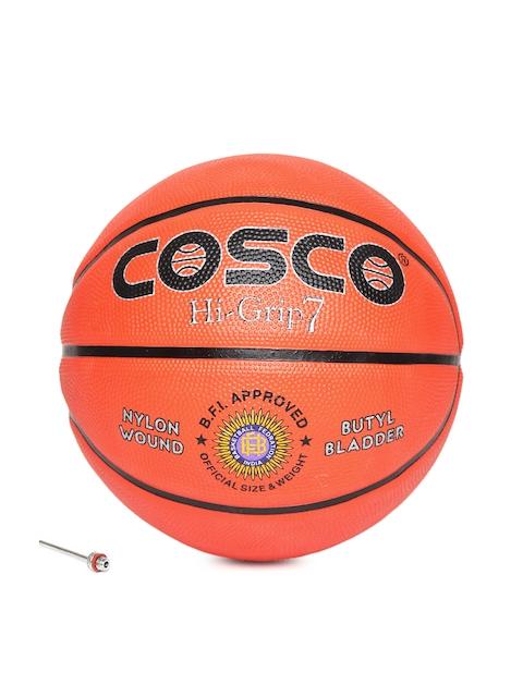 COSCO Men Orange & Black High-Grip Printed Basketball