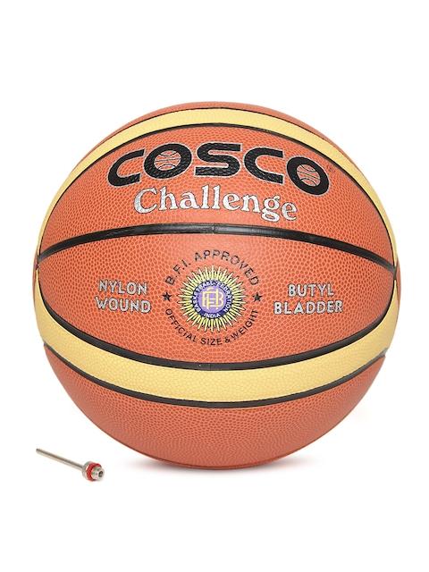 COSCO Unisex Rust Orange Challenge Printed Basketball