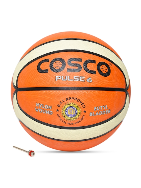 COSCO Unisex Orange Pulse Printed Basketball