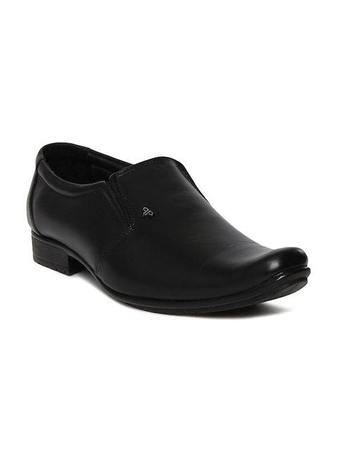 Provogue Men Black Leather Slip-Ons