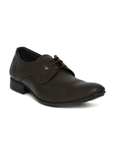 Provogue Men Brown Leather Derbys