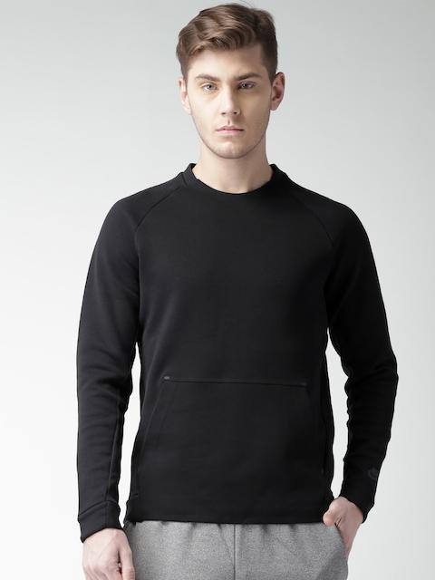 Nike Black As M Nsw Tch Flc Crw Ls Sweatshirt