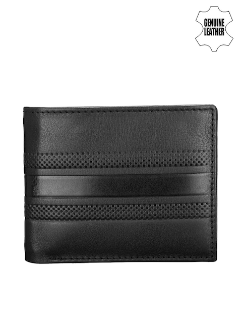 Teakwood Leathers Men Black Genuine Leather Wallet