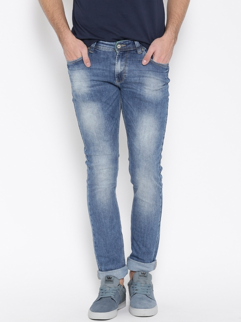 SPYKAR Men Blue Skinny Fit Low-Rise Clean Look Jeans  available at myntra for Rs.1079