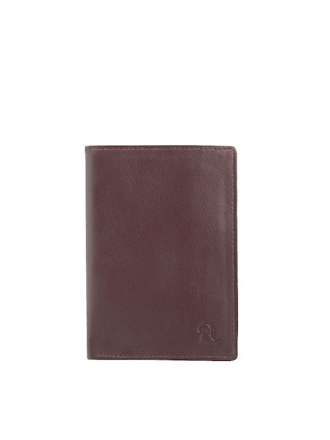 Kara Men Brown Leather Passport Holder