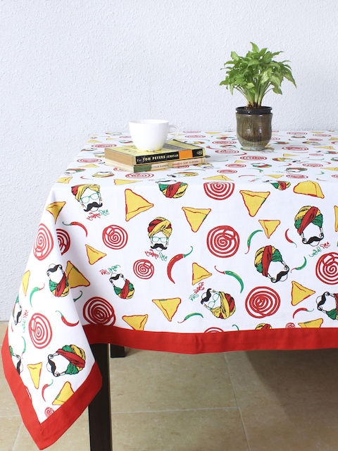 House This Multicoloured Rectangular Printed 60 x 92 Cotton Table Cover