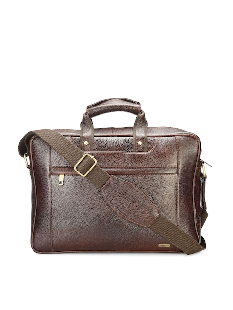 Teakwood Leathers Men Brown Leather Laptop Bag