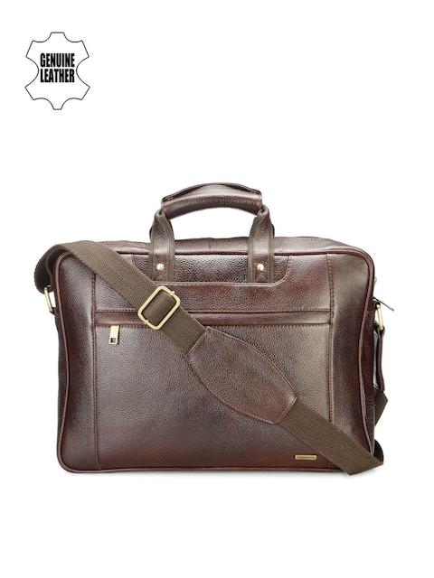 Teakwood Leathers Men Brown Leather Laptop Bag