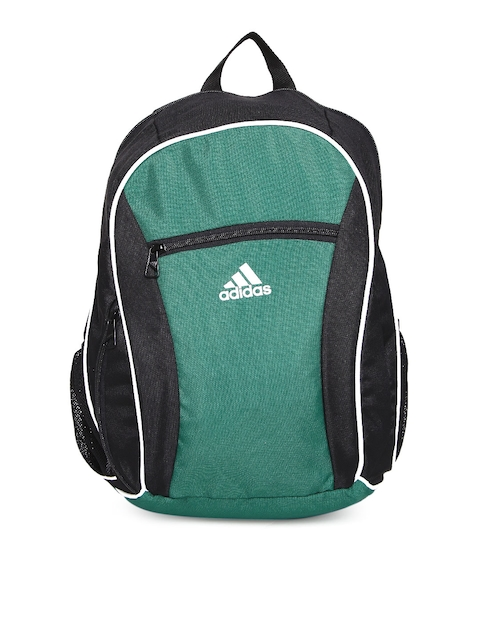 Adidas Men Green & Black Colourblocked Backpack  available at myntra for Rs.759