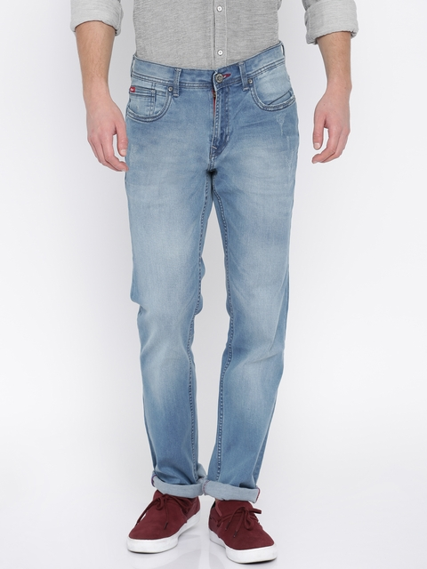 Lee Cooper Men Blue Arthur Straight Fit Jeans