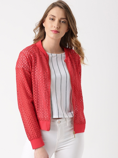 Marie Claire Red Cut-Out Detail Jacket