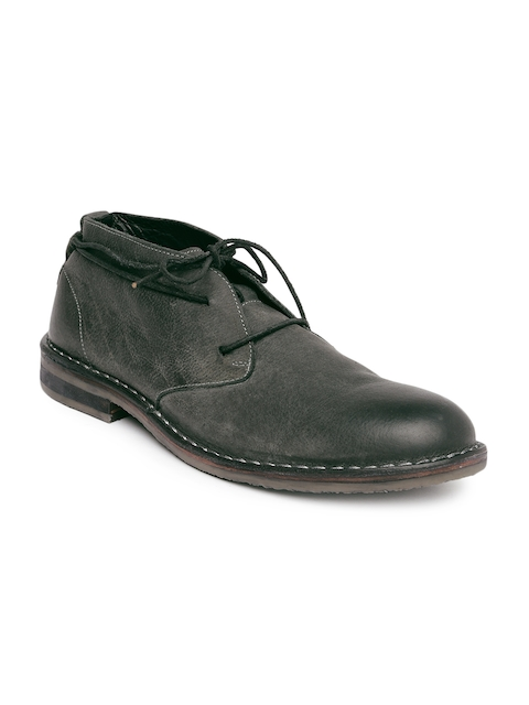 Levis Men Dark Green Leather Casual Shoes
