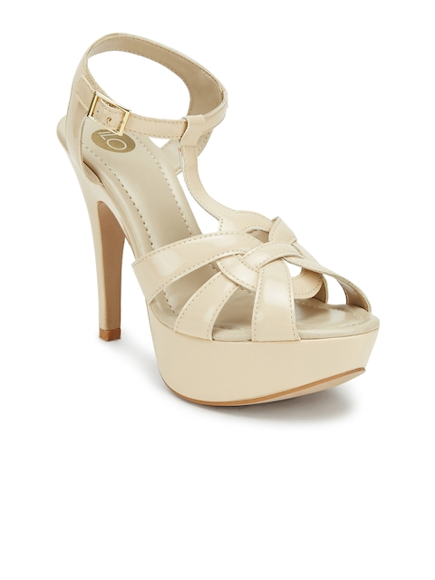 iLO Women Beige Solid Stilettos  available at myntra for Rs.919