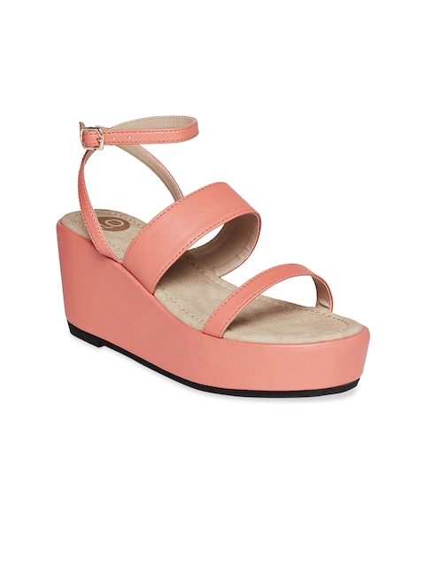 iLO Women Pink Solid Flatforms  available at myntra for Rs.1079