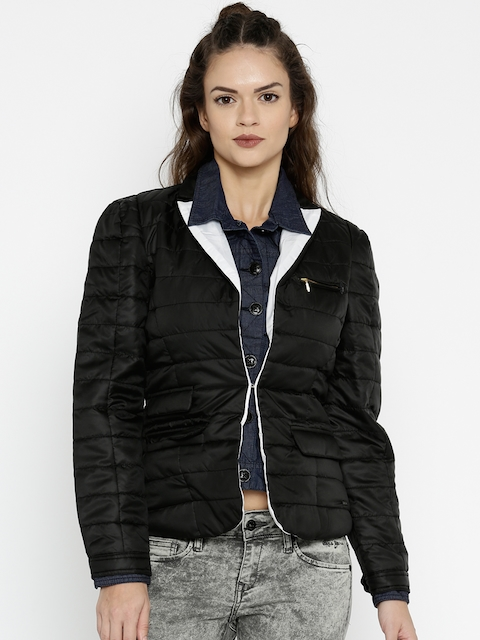 Numero Uno Black Quilted Jacket