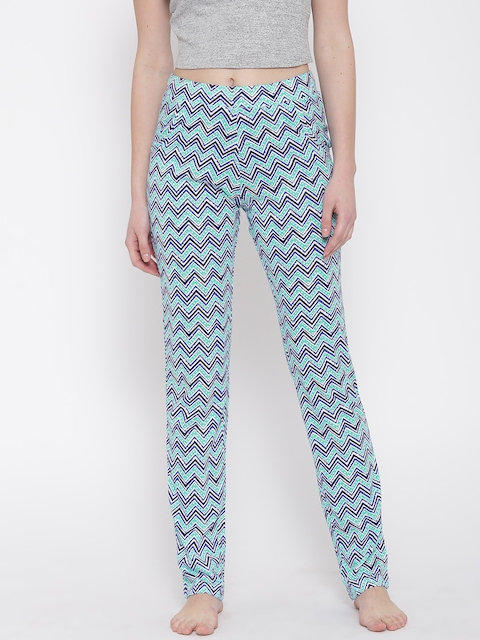 SDL by Sweet Dreams Sea Green Printed Pyjamas F-LLP-611-PRINT-8 COL-3