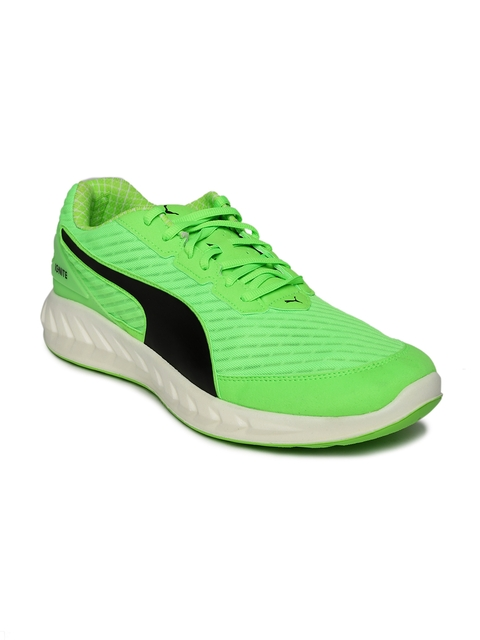 Puma Men Fluorescent Green IGNITE Ultimate PWRCOOL Running Shoes