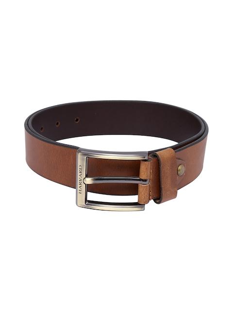 Harvard Men Tan Brown Leather Belt