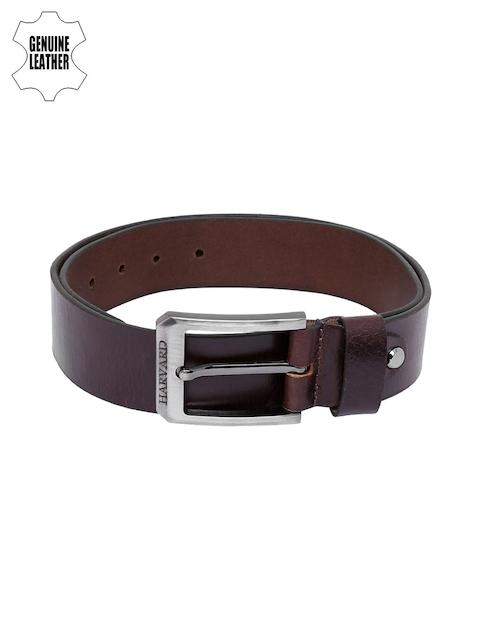 Harvard Men Brown Genuine Leather Belt