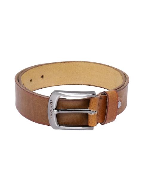 Harvard Men Tan Brown Handmade Leather Belt