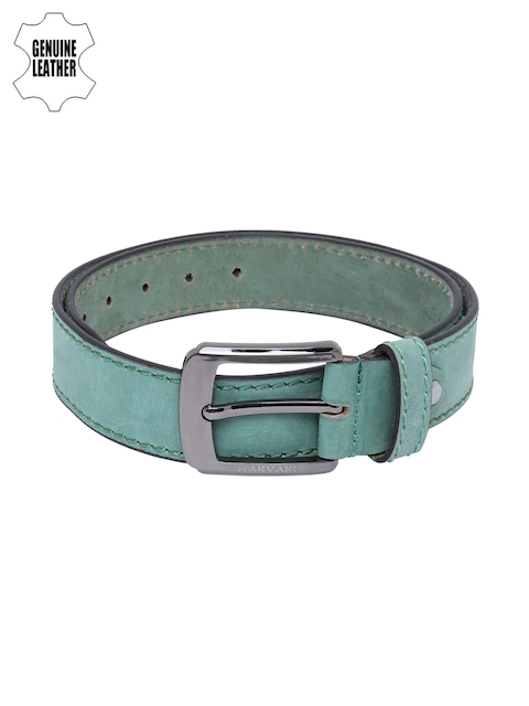 Harvard Men Green Genuine Leather Belt