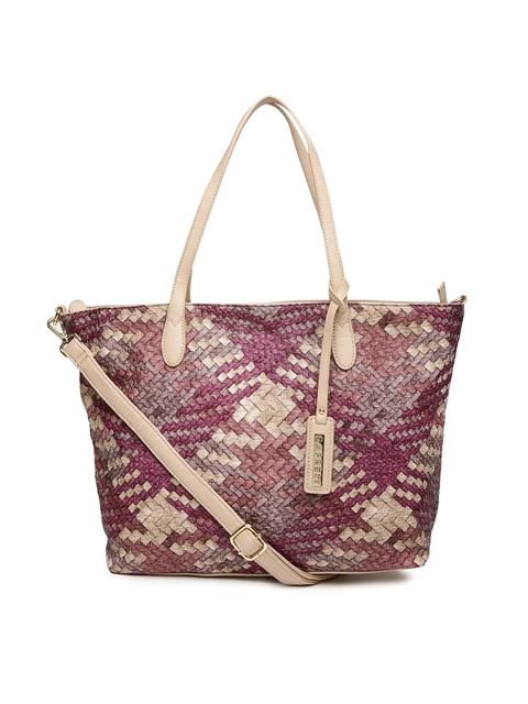Caprese Pink & Beige Shoulder Bag