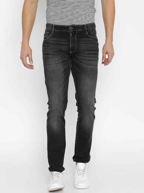 John Players Men Black Slim Fit Low Rise Clean Look Jeans
