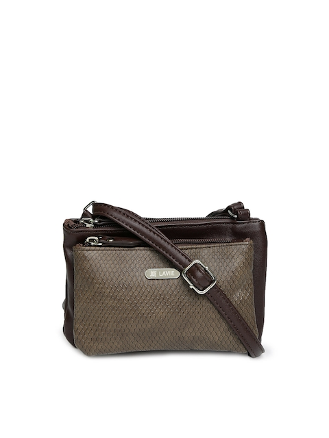 Lavie Brown Textured Sling Bag