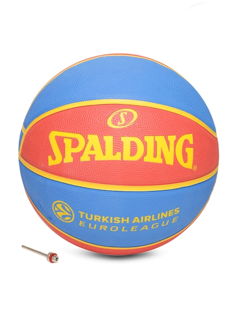 Spalding Men Red & Blue FC Barcelona Printed Basketball
